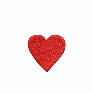 """3/4"""" Small Red Valentines Day Heart Iron on Applique/Embroidered Patch"""