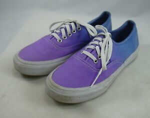 62aa750555 Vans Off the Wall Blue Purple Ombre Canvas Lace up Shoes Womens 6.5 ...