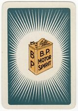 Playing Cards 1 Single Swap Card Old Wide BP MOTOR SPIRIT Car Petrol Gas Can Ad