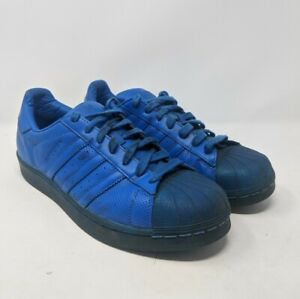 Adidas-Superstar-Adicolor-Triple-Solid-Blue-S80327-Men-039-s-Color-Black-Sneaker