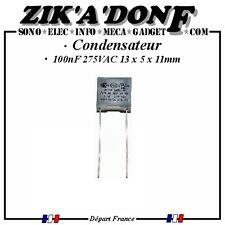 1 Condensateur X2 100nF 275V AC (0,1uF 0,1µF)