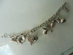 Schönes ,altes Armband , Silber ,Bettelarmband mit 11 schönen Anhänger ,Charms