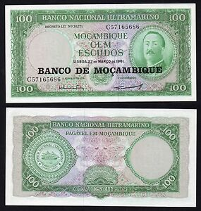 Mozambique-Mocambique-100-Escudos-1961-Fds-UNC-B-01