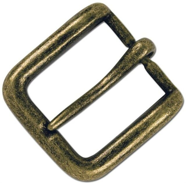 "Wave Solid Antique Brass Buckle 1-1/2"" 1641-09 by Stecksstore"