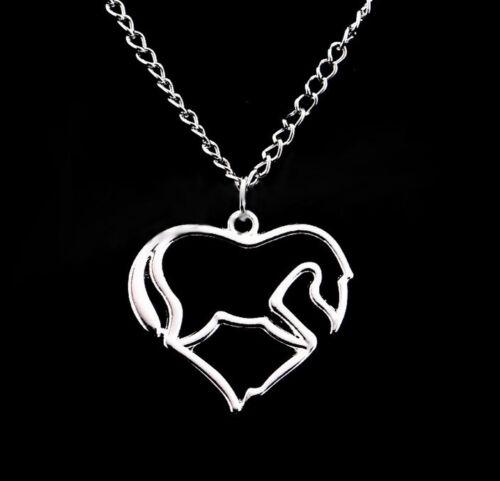Halskette mit Pferdeanhänger silber 51 cm reiten Reitsport