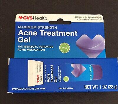 2 Acne Treatment Gel Maximum Strength 10 Benzoyl Peroxide 1oz