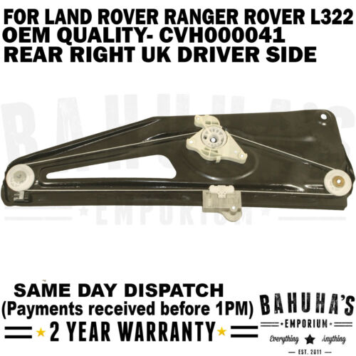 FOR LAND ROVER RANGE ROVER L322 MK3 02-12 REAR RIGHT CVH000041 WINDOW REGULATOR