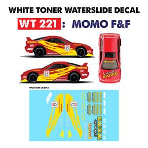 Wt221 White Toner Waterslide Decals Momo F F For Custom 1 64 Hot Wheels Ebay