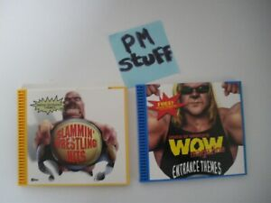 WOW-Magazine-Lot-of-2-wrestling-entrance-CD-from-the-90-s-Vintage