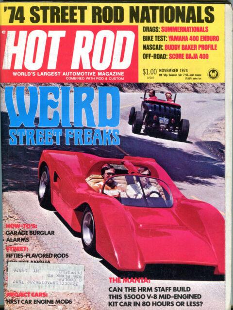 Hot Rod Magazine November 1974 Weird Street Freaks The Manta VG 011916jhe