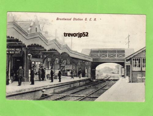 Brentwood Railway Station G E R old pc used 1906 Charles Martin Ref A612