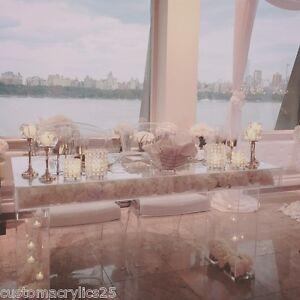 modern clear acrylic modular bridal  sweetheart table 44 quot l