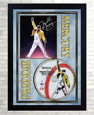 QUEEN Freddie Mercury TRIBUTE SIGNED FRAMED PHOTO PRINT AND CD Disc