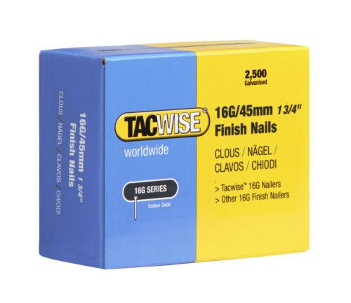 BOX 2,500 TACWISE 16 GAUGE FINISH NAILS