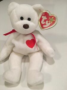 Retired Ty Valentino Beanie Baby Rare with Brown Nose and Multiple ... 8717b62b04c