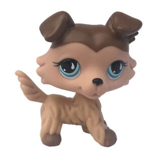 Lps Toys Pet Shop Animals Collection Brown Collie Dog 893 Tear Puppy Ebay
