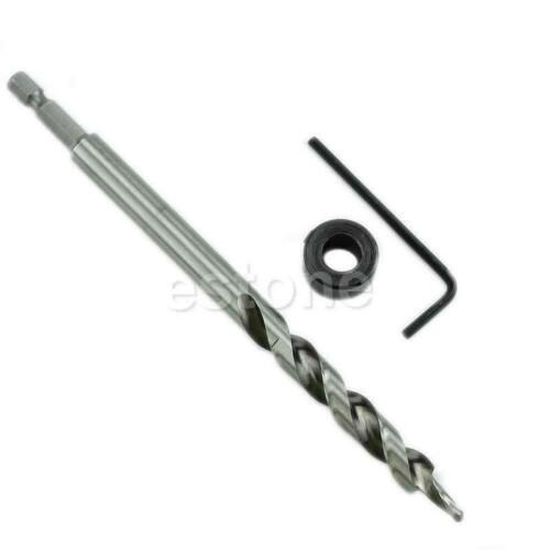 """1//4/"""" Hex Twist Step Drill Bit Set for Kreg Pocket Hole Drill Jig Guide 3//8/"""""""