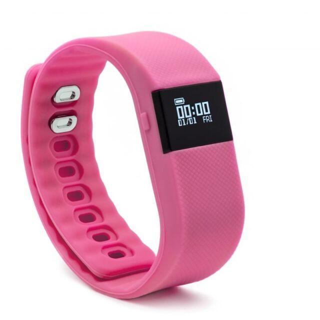 BlueWeigh Fitness Activity Tracker, Pedometer Pink