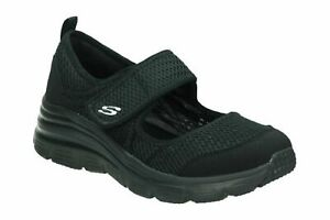 SCARPE-SKECHERS-DONNA-RAGAZZA-13311-BBK-NERO-BLACK-FASHION-FIT-BREEZY-SKY-MEMORY