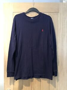 Polo-By-Ralph-Lauren-Navy-Long-Sleeve-T-shirt-Size-XL-Age-18-20