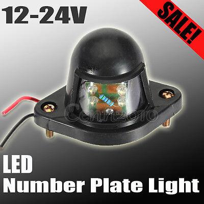 Car Trailer Truck Caravan Ute Rear Tail 4 LED Number License Plate Light 12V 24V