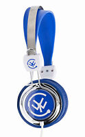 Urbanz ZIP Girls Boys Childrens Kids Teens Lightweight DJ Style Headphones Blue