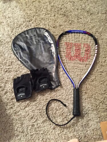 Wilsons Ripper Racquetball Titanium Racquet With Case And Gloves, Size XS 3 78