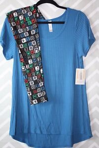 Letters Nwt Outfit Classic Leggings Writer Tipo Os Medium Lularoe PwxfHHq