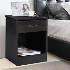 Night Stand Bedroom End Table Bedside Furniture Drawer Sturdy Storage
