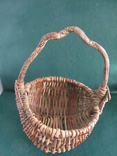 PRIMITIVE ANTIQUE SML BUTTOCK IOWA FARM BASKET