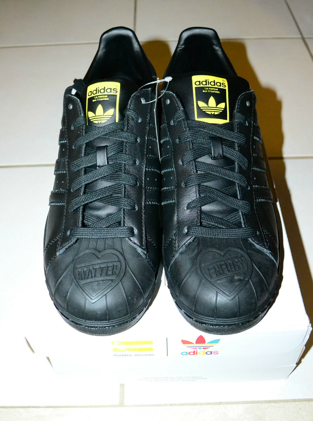 ADIDAS Men Pharrell Williams Supershell Superstar MEN Größe 10 schwarz S83345 NEW