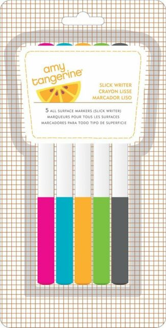 American Crafts Slick Writer 5-Pack Multi Color Medium Point
