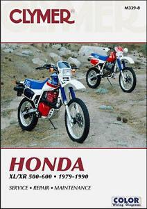 1979 1990 honda xl xr 500 600 xl500 xr500 xl600 xr600 clymer repair rh ebay com honda cr500 manual honda xr500r manual pdf
