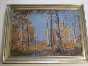 ANTIQUE-Shirley-Gordon-Barrick-born-1885-PAINTING-OHIO-ARTIST-LANDSCAPE-RARE