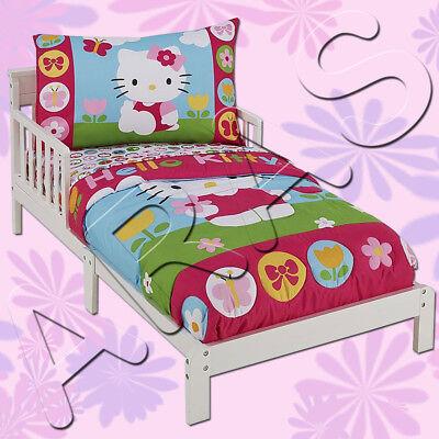 Letti Per Bambini Hello Kitty.4 Pz Hello Kitty Bimbo Set Biancheria Letto Da Sanrio Ebay