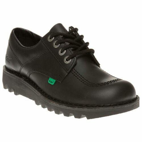 Kickers Patada LO para hombres Cuero Negro Zapatos De Escuela//Trabajo inteligente Tamaños Reino Unido 6.5 a 11