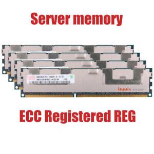 Fuer-Hynix-32GB-4X8GB-PC3-10600R-DDR3-1333MHz-ECC-Registrierter-REG-Speicher-RHDE