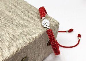 Pulsera-Roja-De-La-Medalla-De-San-Benito-St-Benedict-Medal-Bracelet-Ajustable