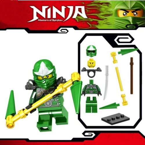 Ninjago Lloyd ZX Masters of Spinjitzu Samurai Warrior Custom Lego Mini Figure