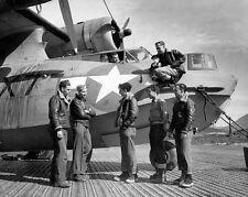 WWII Photo US Navy PBY Catalina Crew   World War 2 WW2 USN  / 1198