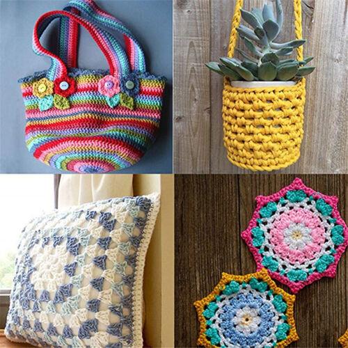 12//14pcs Crochet Crochets Aiguilles à tricoter Sets de couture Outils Poignée Avec Sac S