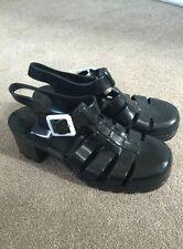 GENUINE Juju Ju Ju Black Jelly Buckle Shoes Size UK 5 Women's Ladies Summer