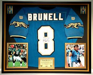 Image is loading Premium-Framed-Mark-Brunell-Autographed-Jaguars -Official-Wilson- 24d990c52
