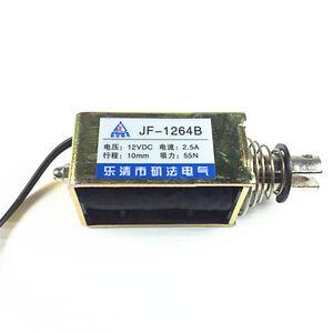 JF-0826B 24VDC 350mA 10mm 20N Open Frame Solenoid Electromagnet Push//Pull type