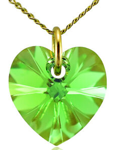 August-Birthstone-Necklace-Peridot-9ct-Gold-Heart-with-Crystal-from-Swarovski