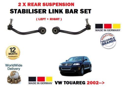 RIGHT STABILISER LINK BAR SET FOR VW TOUAREG 2002-/>NEW 2 X REAR SUSPENSION LEFT