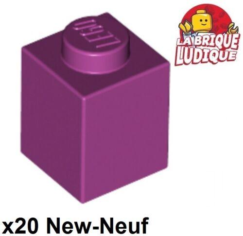 Lego 20x Brique Brick 1x1 magenta 3005 NEUF