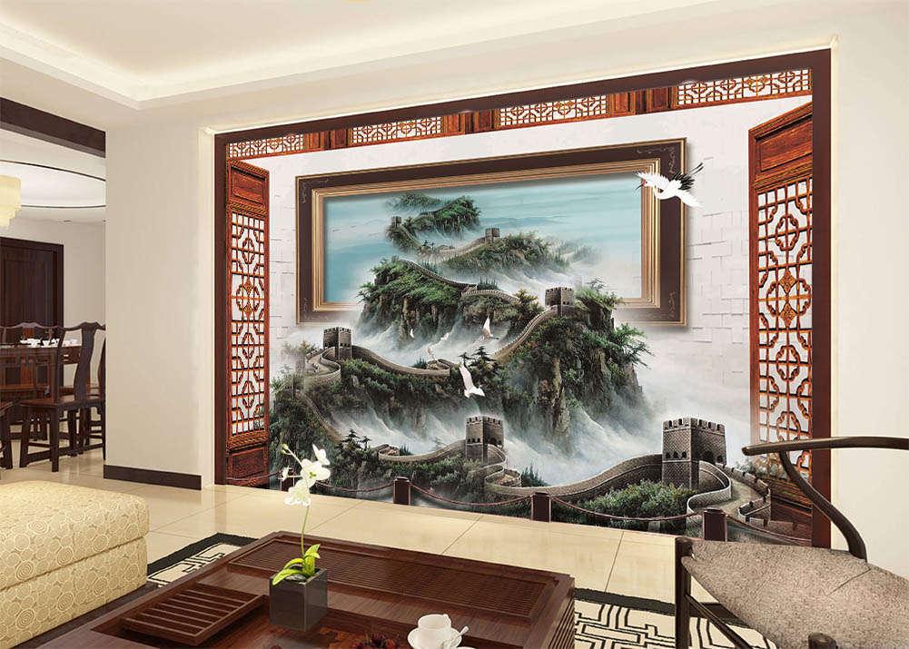 Wonder The Great Wall 3D Full Wall Mural Photo Wallpaper Print Home Kids Decor