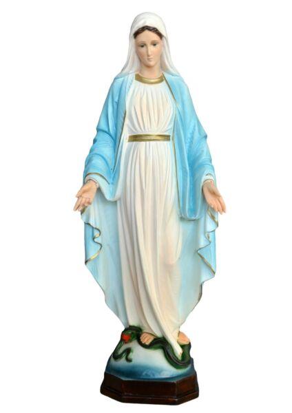 Statua Madonna Immacolata Cm 60 In Resina Con Occhi Di Vetro Distintivo Per Le Sue Proprietà Tradizionali