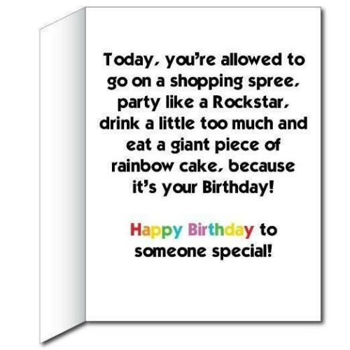 Slice of Rainbow Birthday 3/' Stock Design Giant Birthday Card with Envelope
